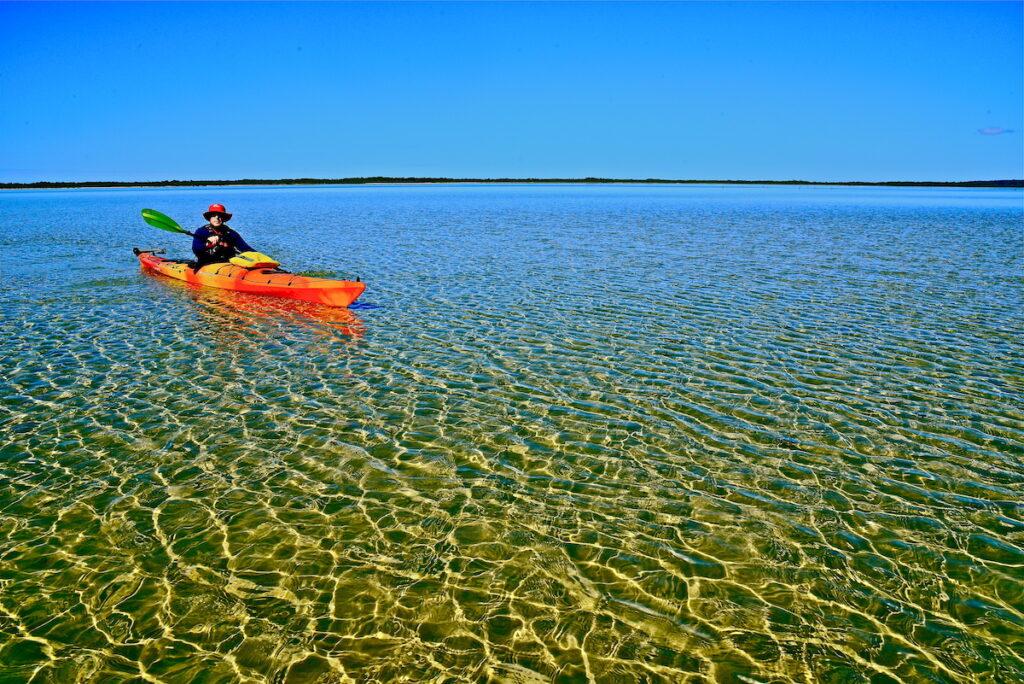 Kayaker in Mallacoota.