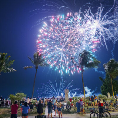 Fireworks at the Hemingway Days Party in Key West.