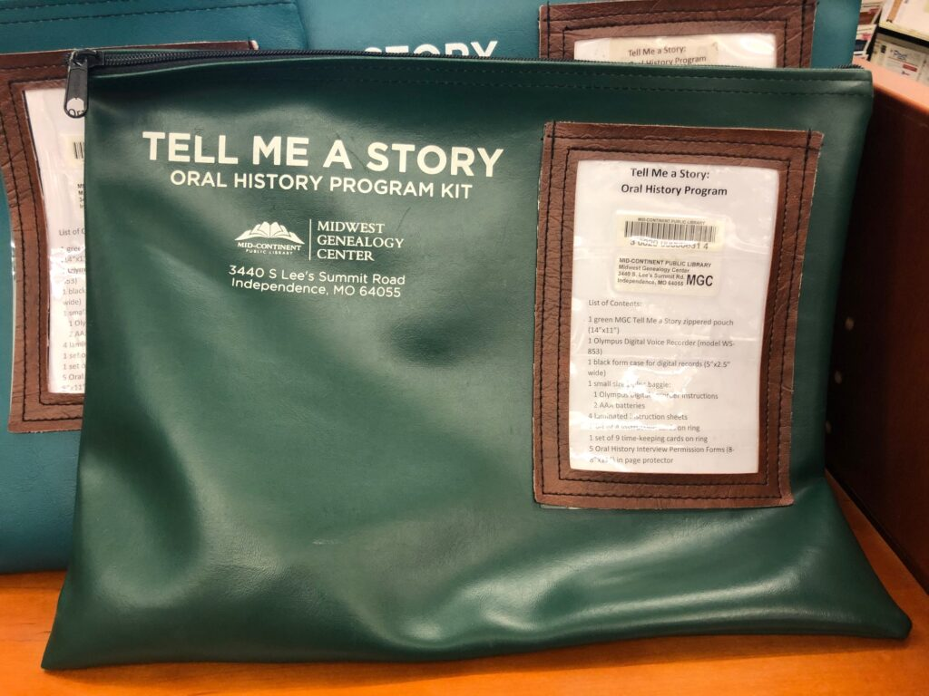 Tell Me A Story recordable genealogy at Midwest Genealogy Center in Independence, MO