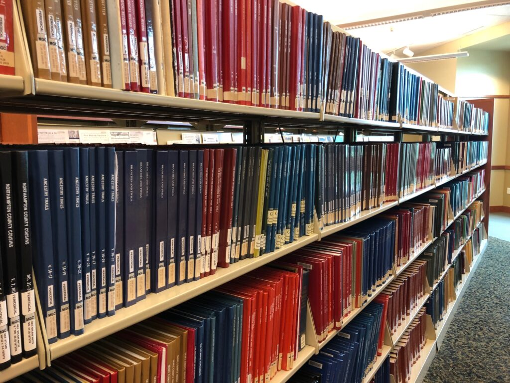 archives in Midwest Genealogy Center in Independence, MO