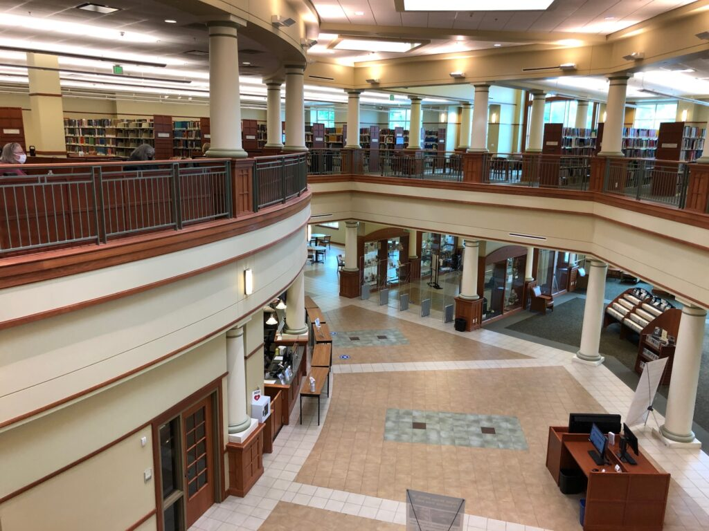 view of inside Midwest Genealogy Center in Independence, MO