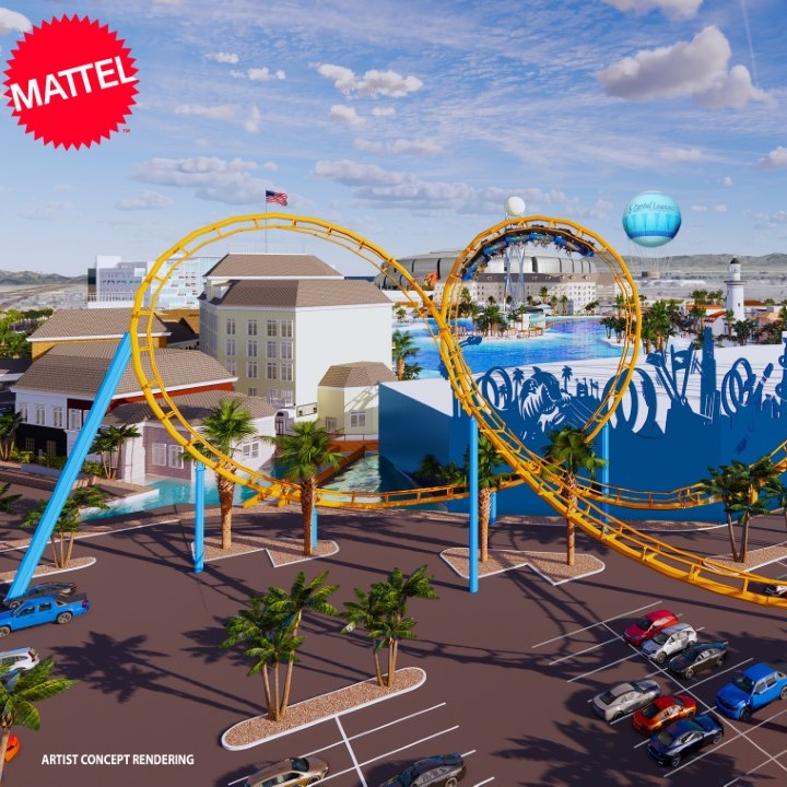 Mattel Adventure Park artists rendering.