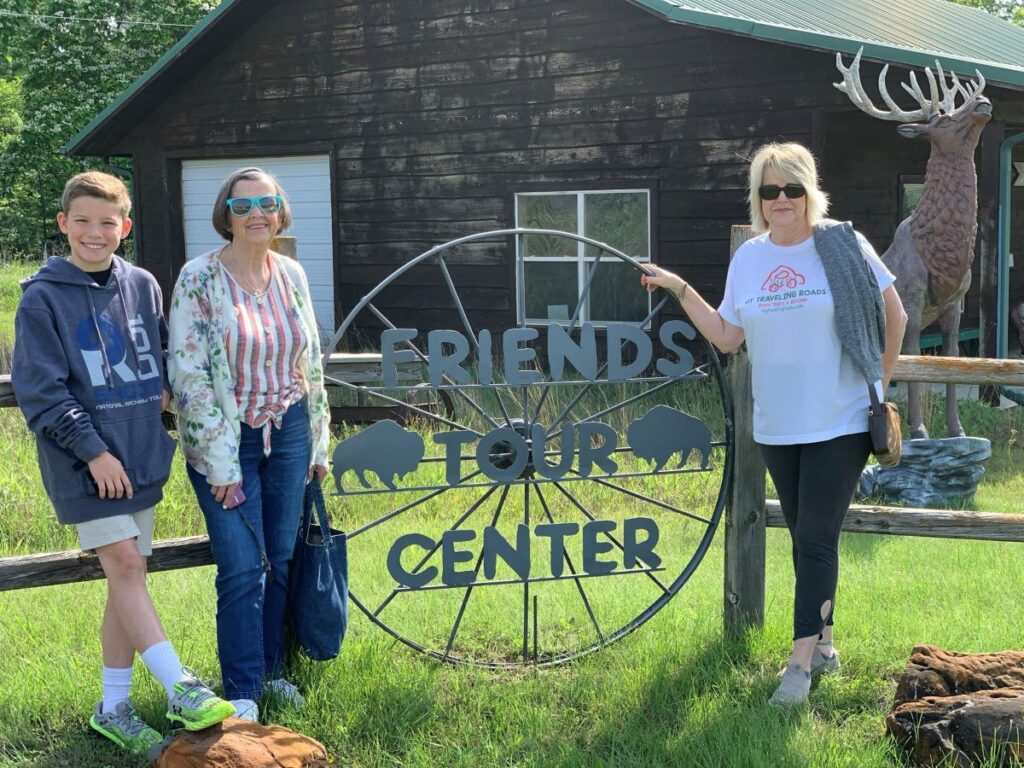 The author, her grandson and her mom at Maxwell Refuge In McPherson, Kansas.