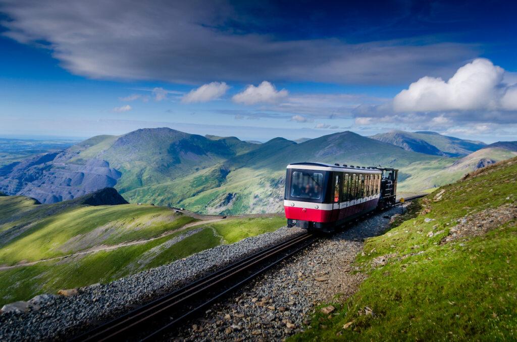 Snowdon Mountain Railway in Wales, UK.