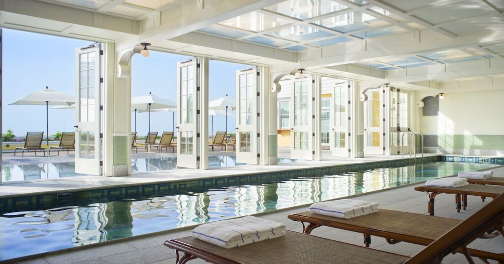Pool at Ocean House boutique hotel, Rhode Island.