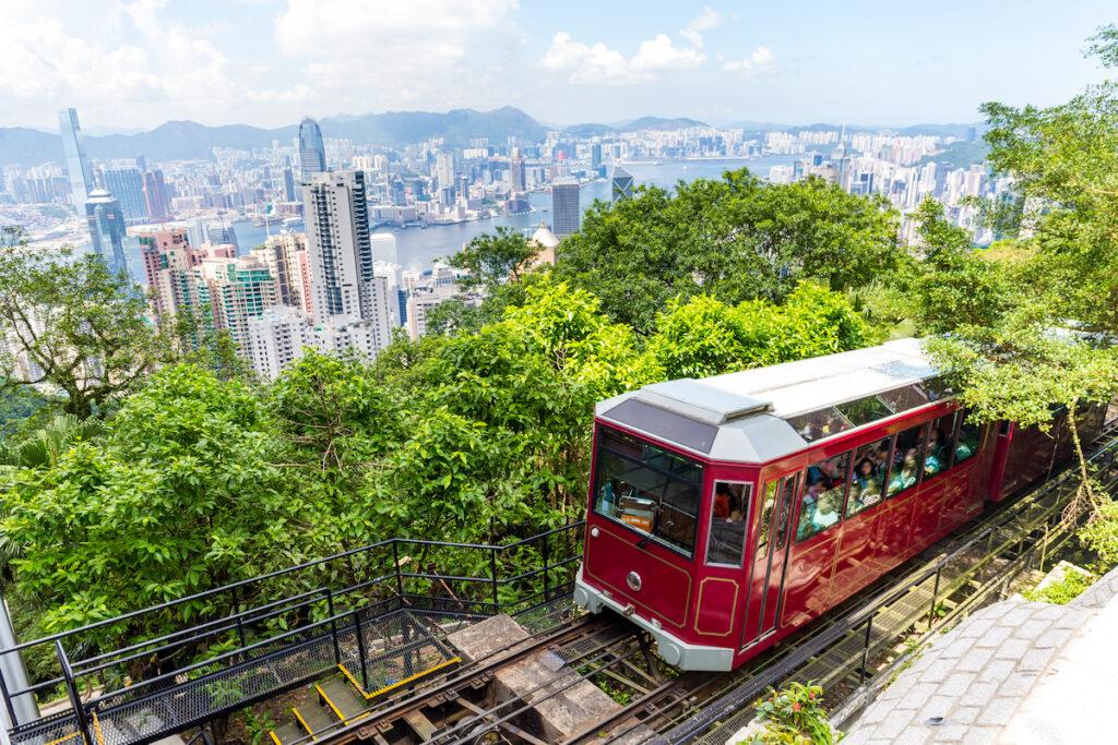 Peak Tram in Hong Kong.