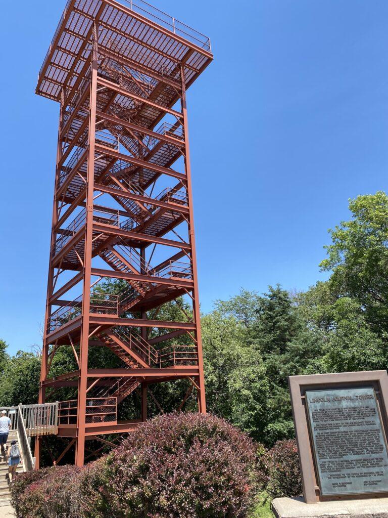Observation tower at Platte River State Park, Nebraska.