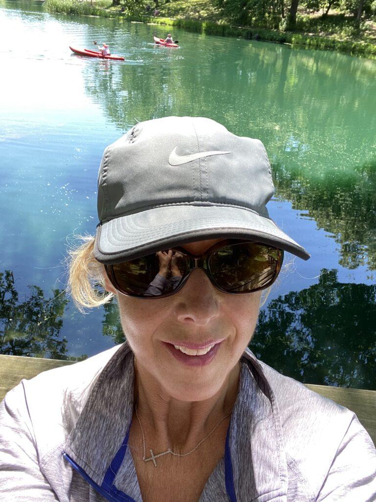 The author at Jenny Newman Lake, Nebraska.