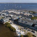 Aerial view of Fishermen's Village, Punta Gorda, FL