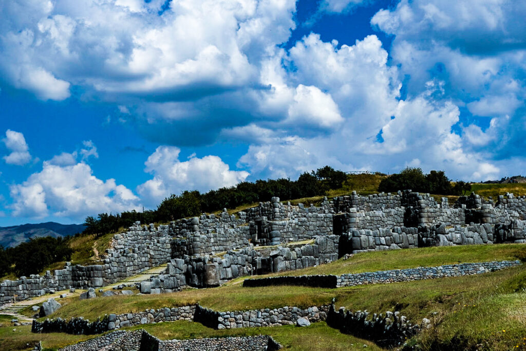 Sacsayhuaman, the house of the sun citadel sitting on the outskirts of Cusco.