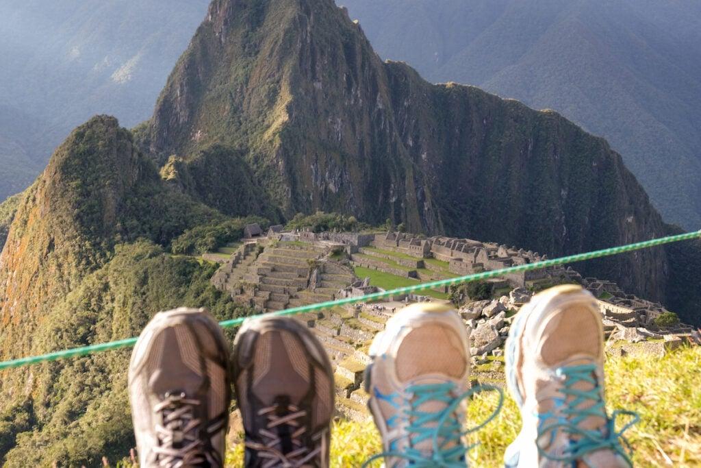 High view of Machu Picchu.