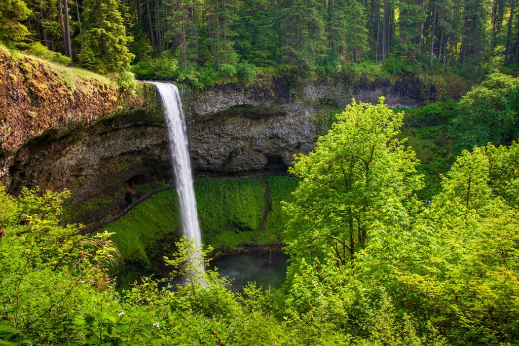South Falls at Silver Falls State Park near Silverton, Oregon.