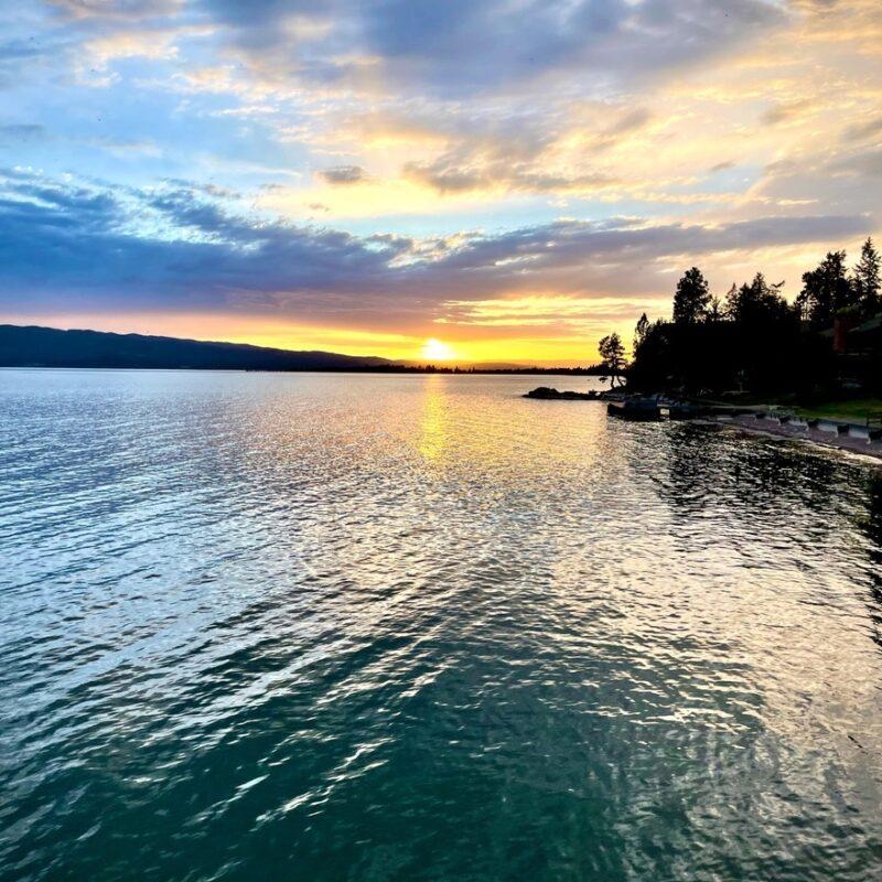 Sunset over Flathead Lake