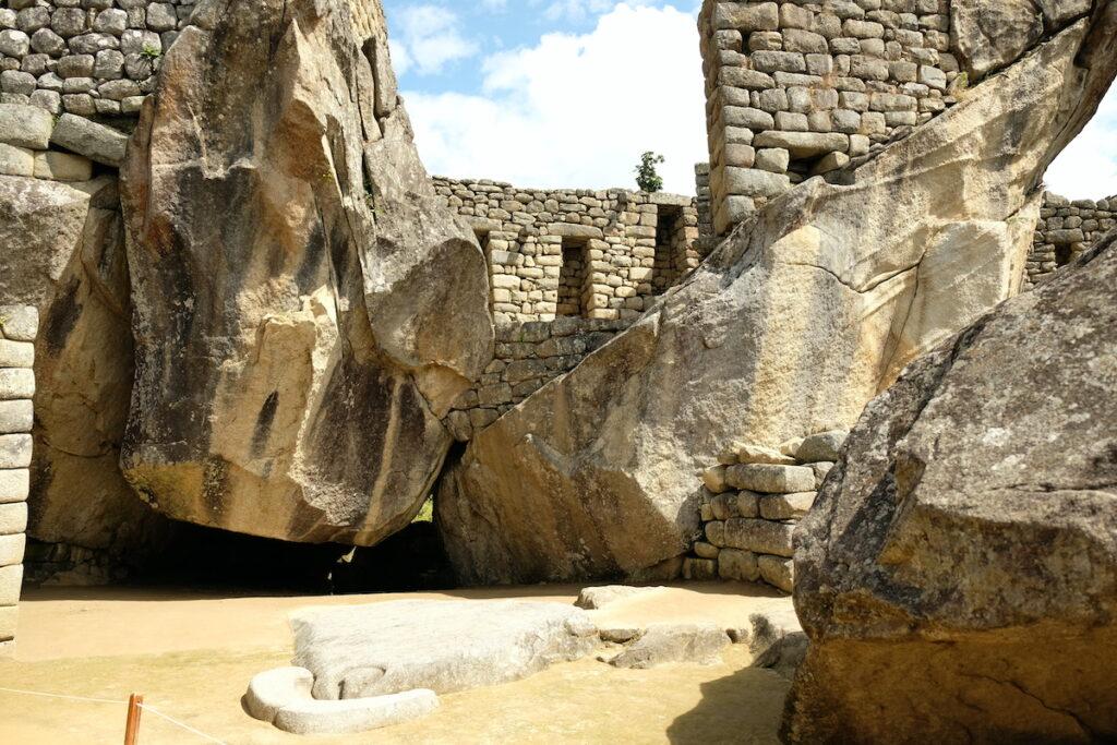 Temple of the Condor in Machu Picchu.