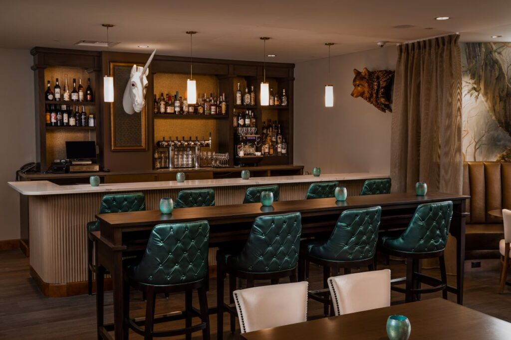 The Tonsorium Bar at The Lodge at St. Edward State Park