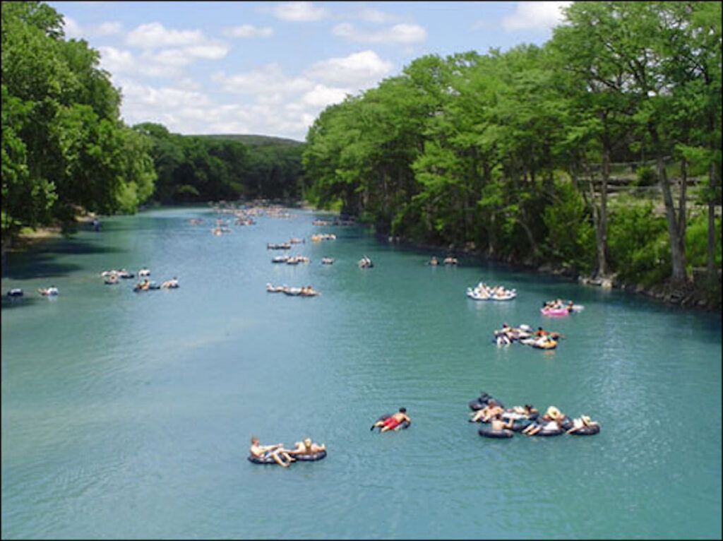 Tubing off Hwy 306 of Guadalupe River Portion of Canyon Lake.
