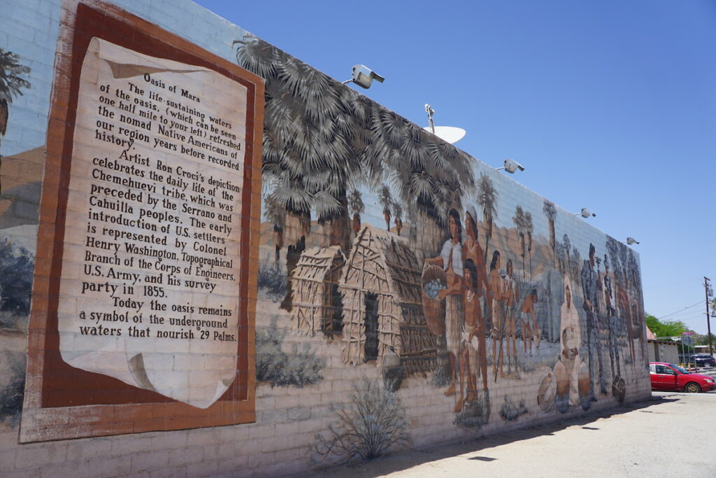 Mural in Twentynine Palms, California.