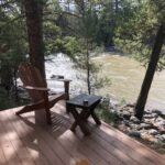 View of the Blackfoot River while glamping at Paws Up.