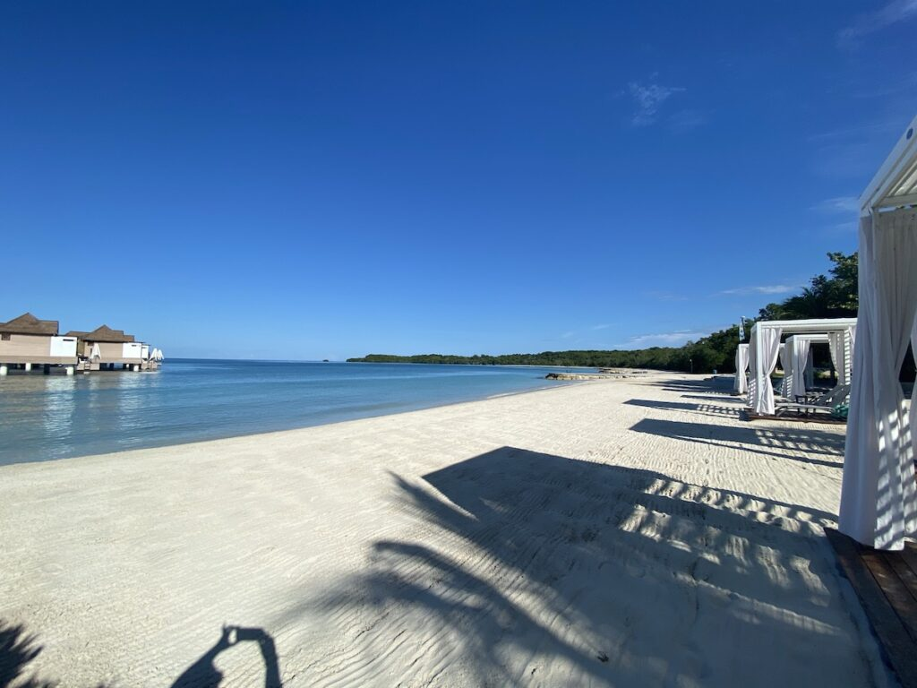 Views of the nature preserve, private beach and cabanas.