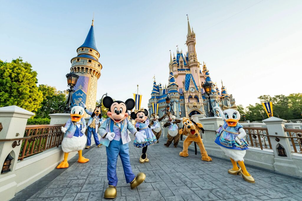 Characters at Disney World.