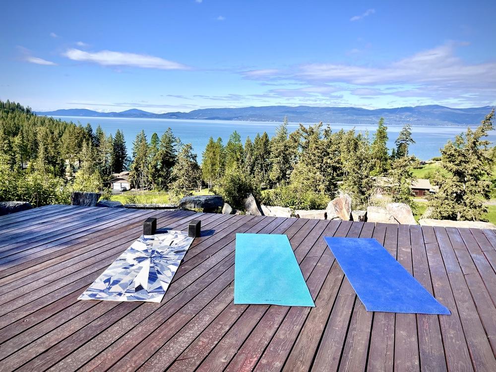 The Yoga Deck at Flathead Lake Lodge.