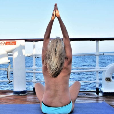 Yoga, National Nude Recreation Week.