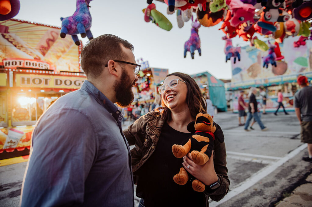 happy couple at SantaCaliGon Festival in Independence, MO