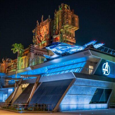 Avengers Campus in Disneyland.