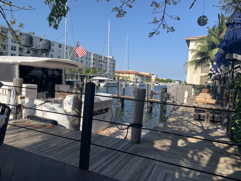 View from deck, the Boatyard restaurant, Fort Lauderdale.