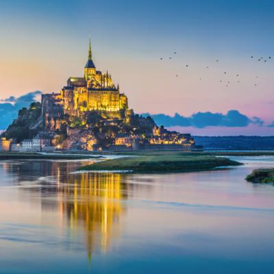 Le Mont Saint-Michel tidal island Normandy