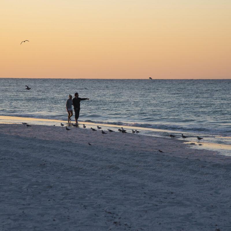 Sunrise at Pensacola Beach, Florida.
