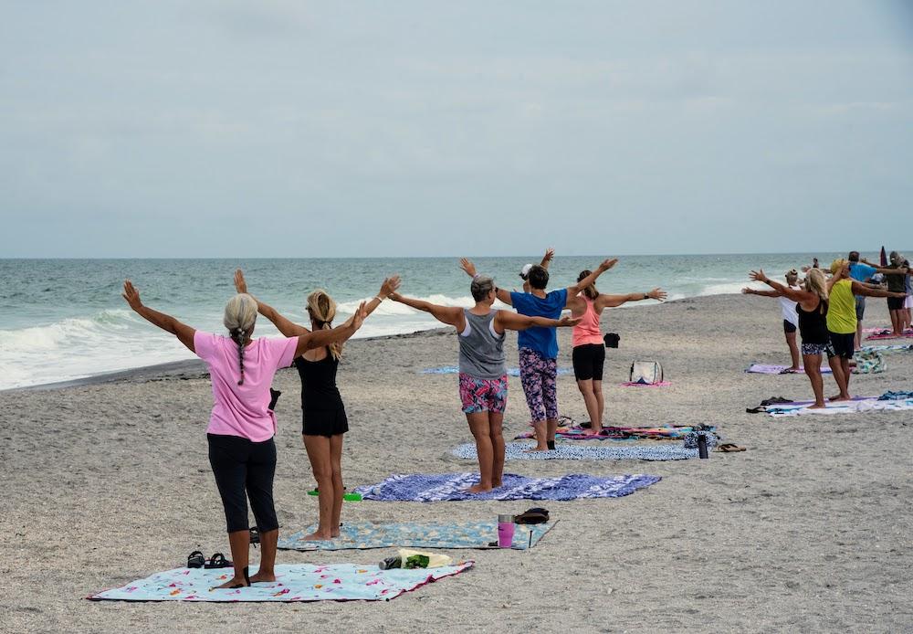 Yoga on Englewood Beach, Florida