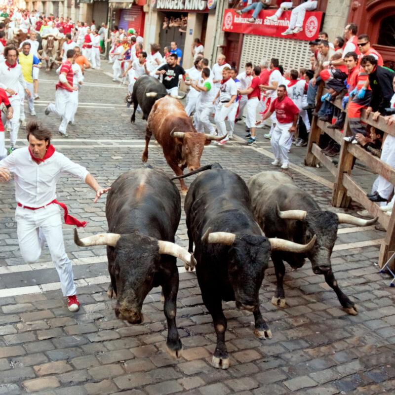 San Fermin Festival in Pamplona, Spain.