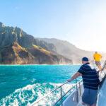 Boat tour near Kauai, Hawaii.