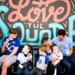 family in KC Royals shirts in Independence, MO