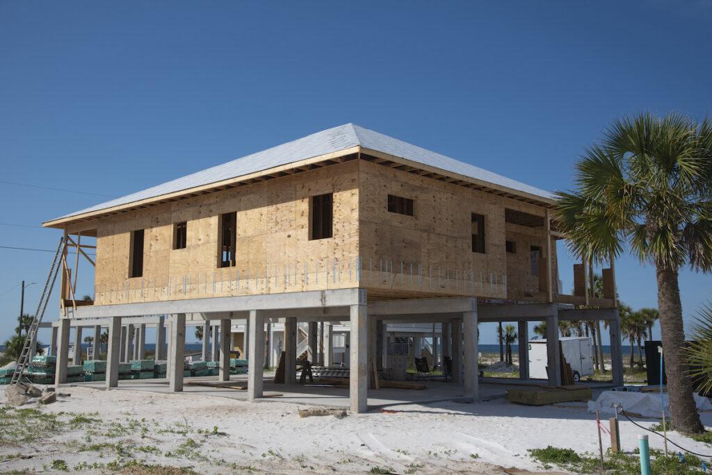 New construction in Mexico Beach, Florida