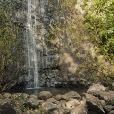 Moana Falls in Oahu, Hawaii.