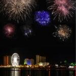 Fireworks over Pensacola, Florida.