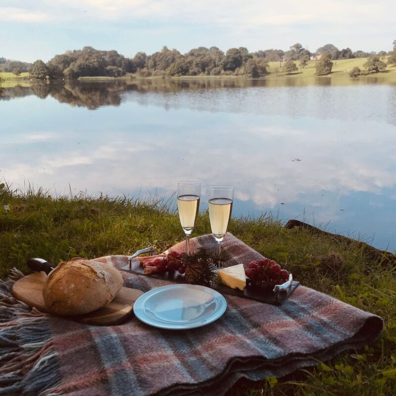 Picnic at Combermere Abbey in the UK.