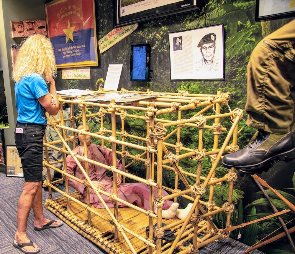 Tiger Cage at Military Museum, Punta Gorda, Florida
