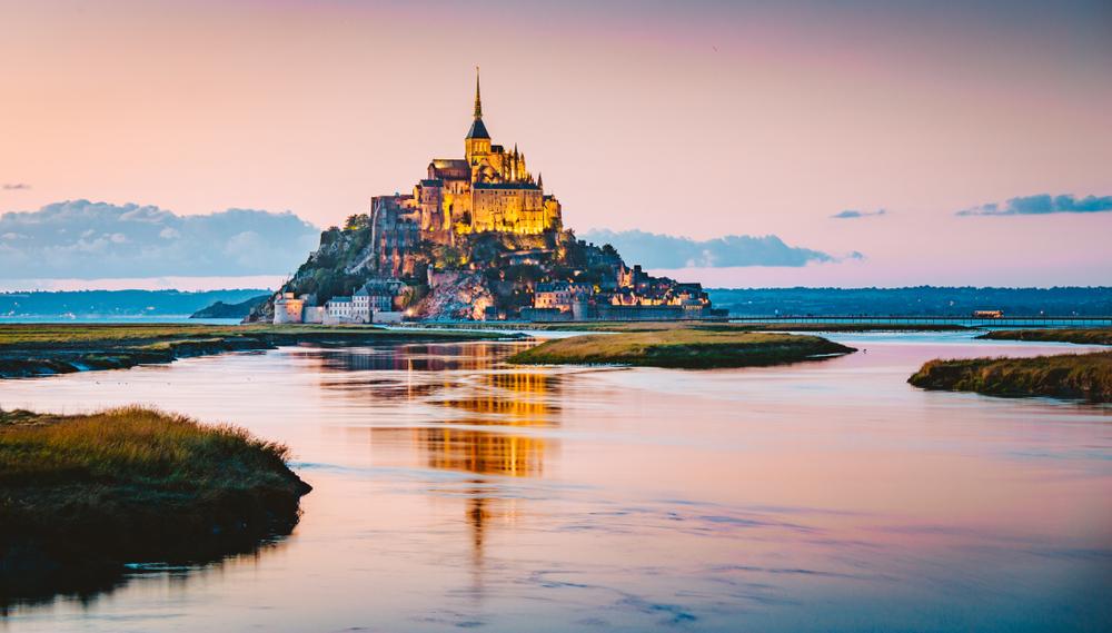 Le Mont Saint-Michel in Normandy, France.