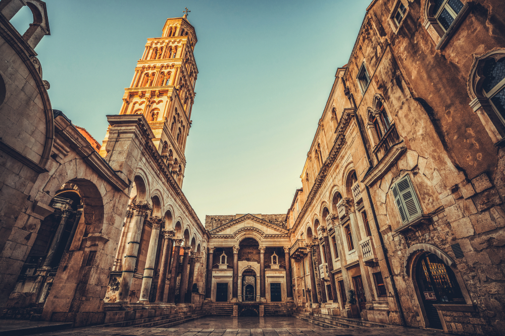 The Diocletian's Palace in Split, Croatia.