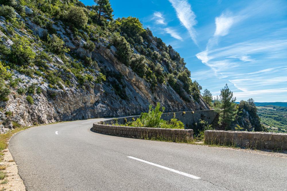 Narrow road, Gorges du Verdon, France.
