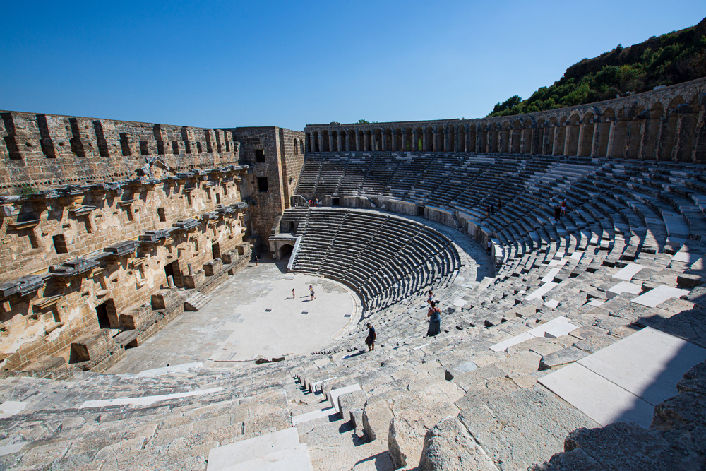 Aspendos Theater in southern Turkey.