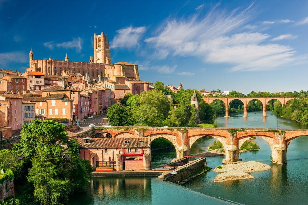 View of Albi, France.