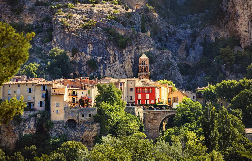 Moustiers-Sainte-Marie in Provence, France.