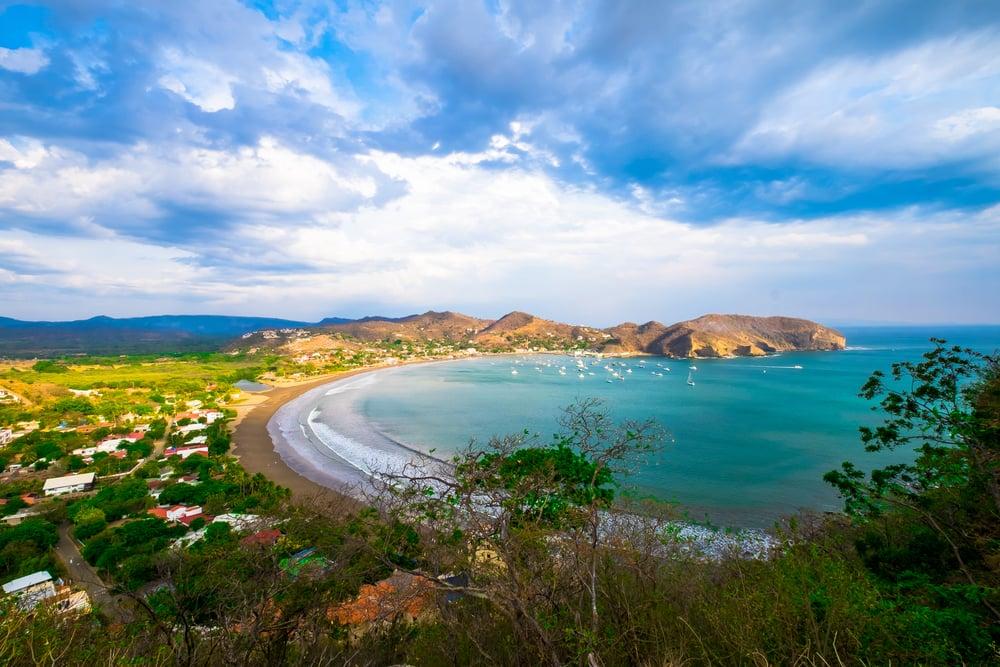 San Juan Del Sur Nicaragua Beach Beautiful View Sky