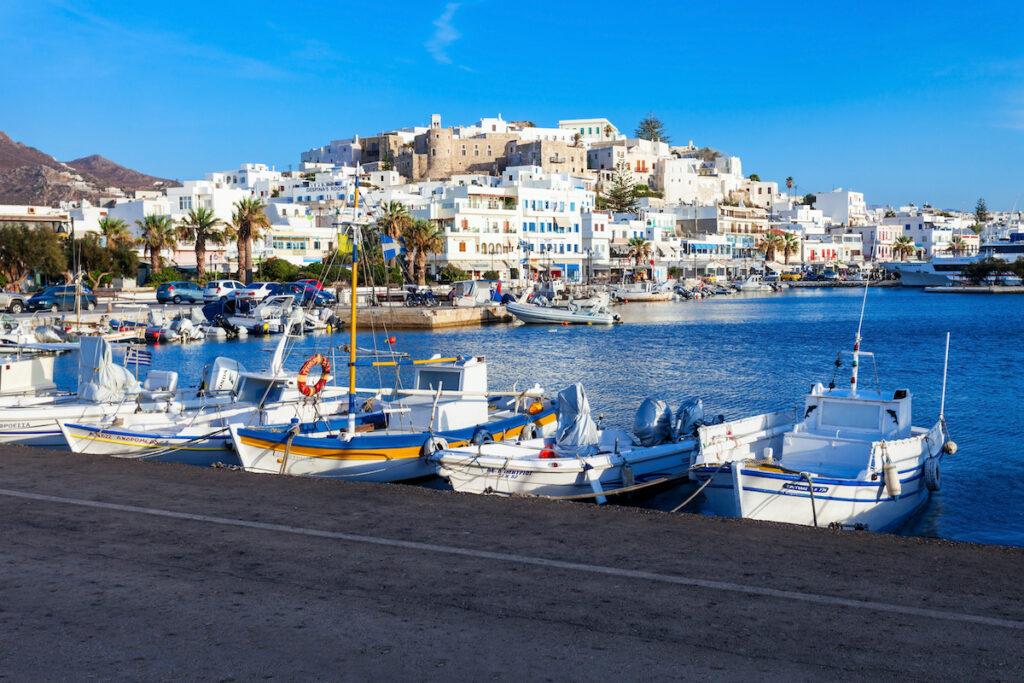 Port of Naxos, Greece.