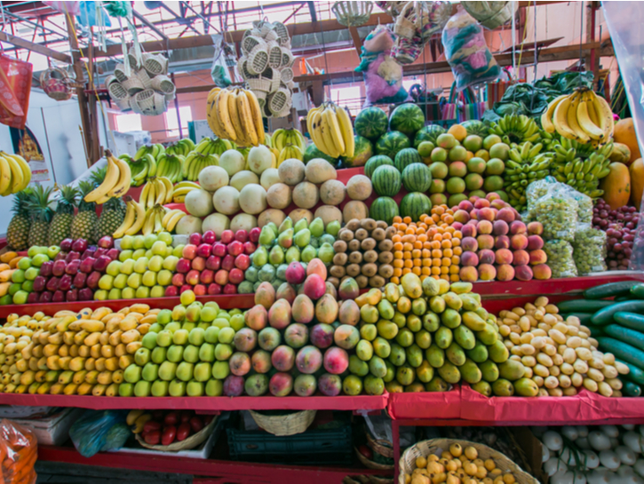 Mexican fruit market in San Miguel de Allende.