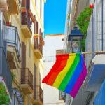 Rainbow flag in Spain.